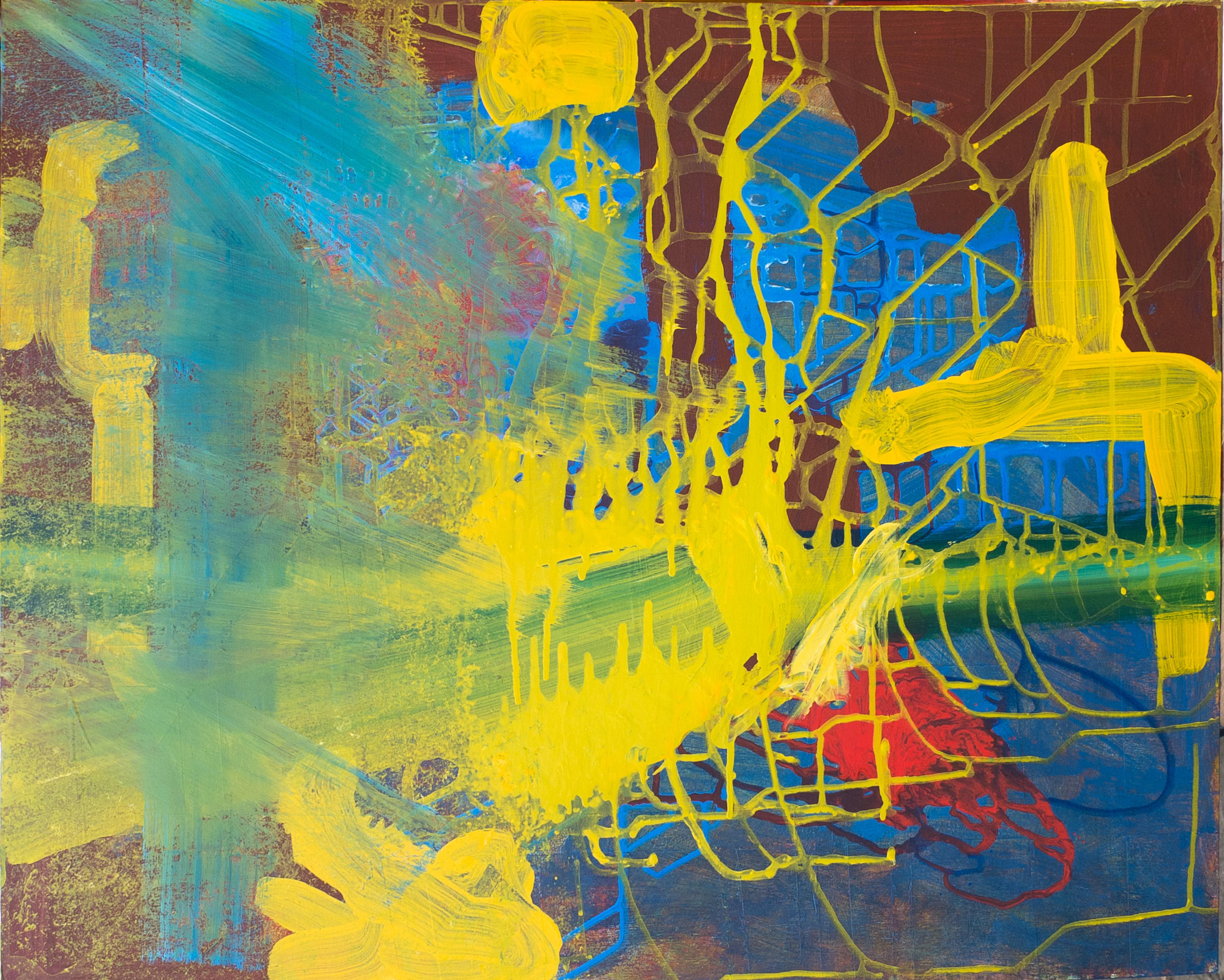 Escenificar un ambiente propuesto (aceleración) (Versión 1: Fotografía). Fotografía de una pintura hecha con vinilo y acrílico sobre MDF. Fotografía por Deisy Wilchez. 2015