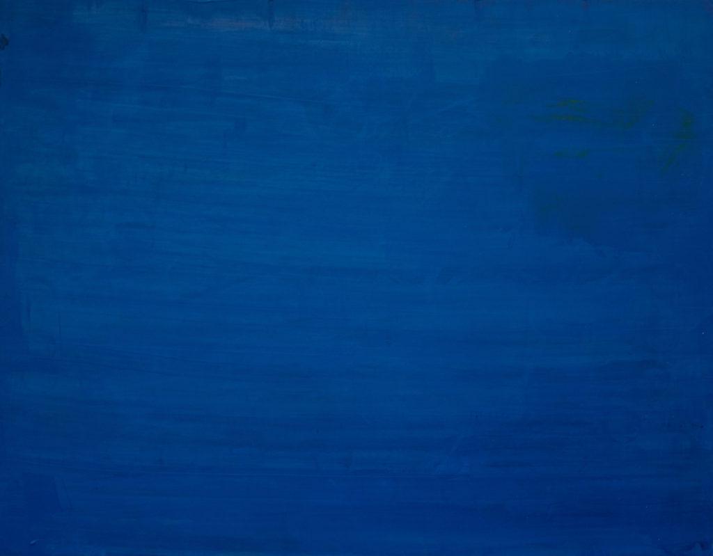 Dejar Pintura Azul (2018). Vinilo y acrílico sobre MDF. 90 cm 70 cm