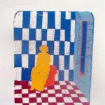 Espacio y Figura. (2000). Linóleo. 22 cm. 26 cm.