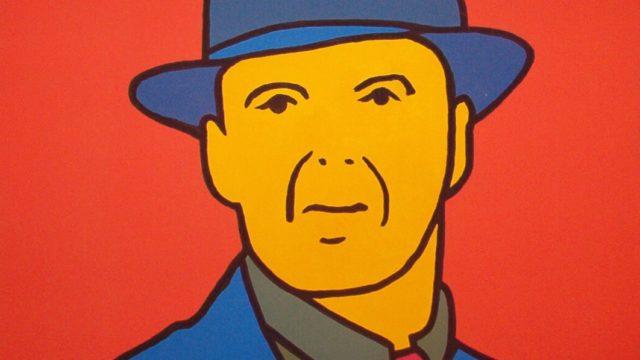El Último Hombre. (2001). Vinilo sobre Lienzo. 70 cm. 70 cm.