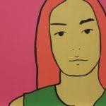 Dazed Abd Confuzed (Anne). (2006). Vinilo sobre MDF. 40 cm. 40 cm.