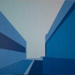 Bucaramanga Time (Distorsión). (2011). Vinilo y Acrílico sobre MDF. 76 cm. 122 cm.