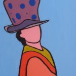 Miren, Uso Sombrero. (2005). Vinilo sobre MDF. 51 cm. 33 cm.