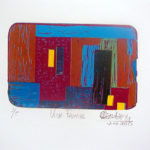 Vista Frontal. (2000). Linóleo. 18 cm. 12 cm.