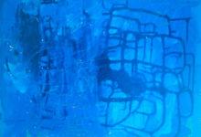 Dejando pintura (2017). Vinilo y acrílico sobre MDF. 76 cm 60 cm