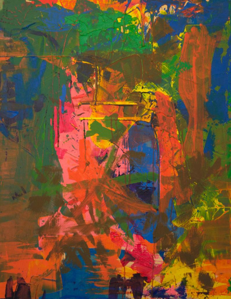 Dejar Pintura Resto 1 (2018). Vinilo y acrílico sobre MDF. 70 cm 90 cm