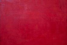 Dejar Pintura Rojo (2018). Vinilo y acrílico sobre MDF. 90 cm 70 cm