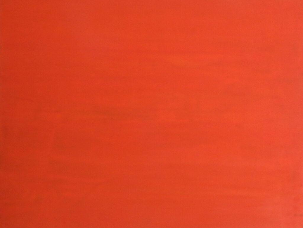 Dejar Pintura: Naranja (2018). Vinilo y acrílico sobre MDF. 70 cm 90 cm