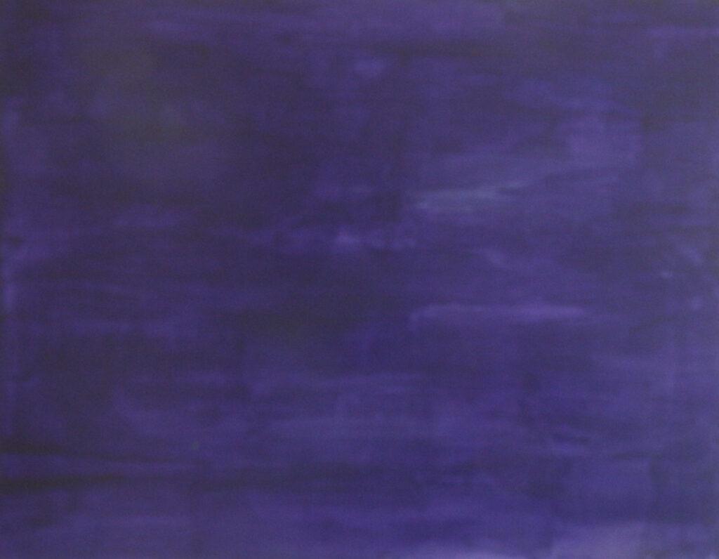 Dejar Pintura: Violeta (2018). Vinilo y acrílico sobre MDF. 70 cm 90 cm